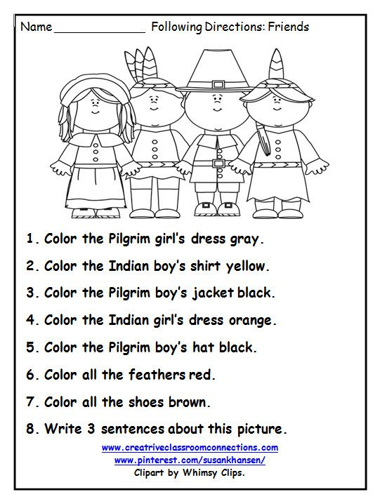 Thanksgiving Worksheets First Grade Free Worksheets For All