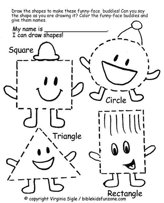 Toddler Shapes Worksheets Worksheets For All