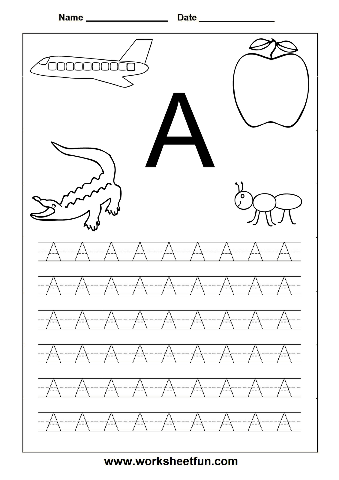 Trace Letter A Worksheets Free The Best Worksheets Image