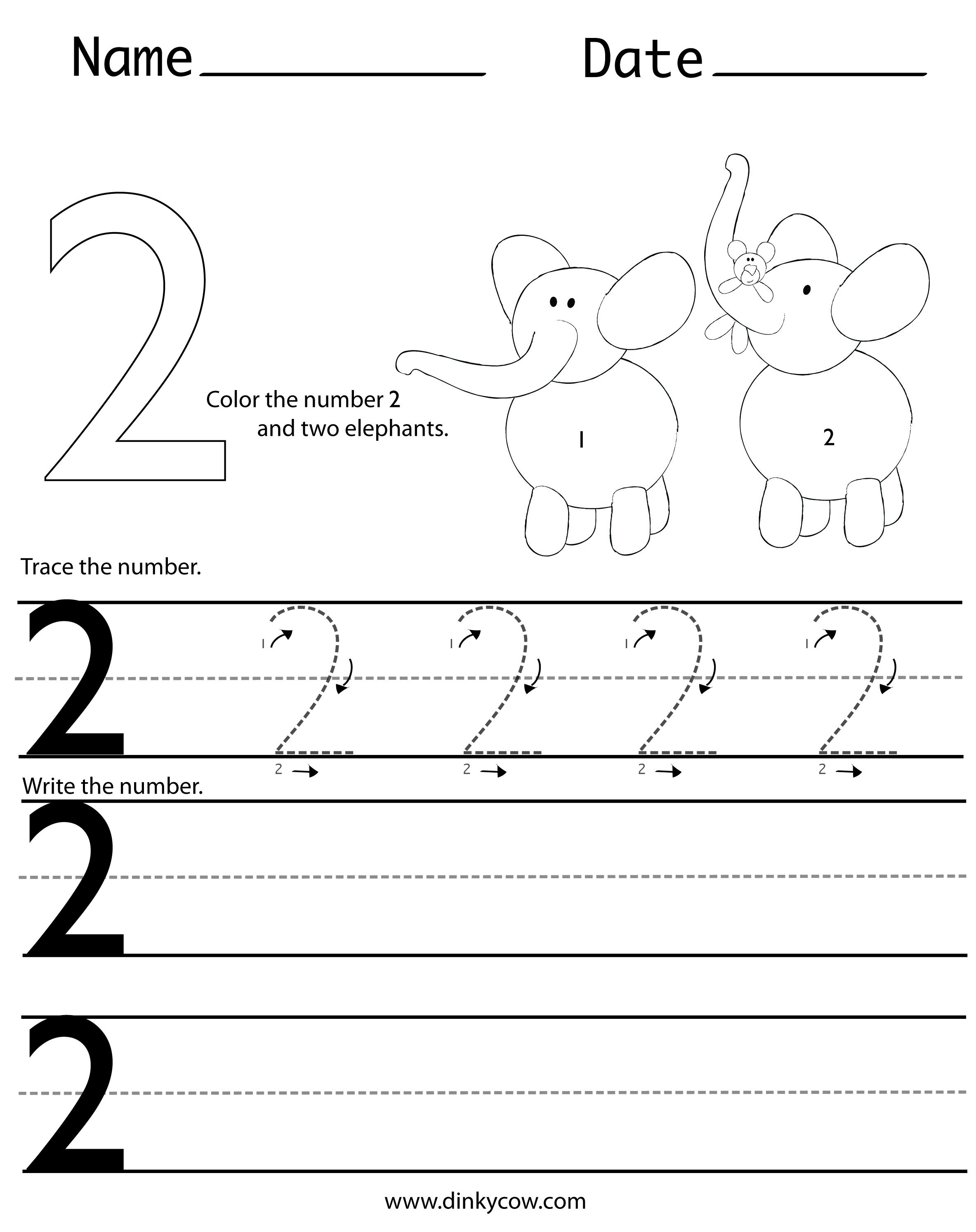 Trace Number 2 Worksheet The Best Worksheets Image Collection