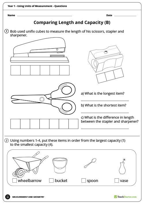 Using Units Of Measurement Worksheets