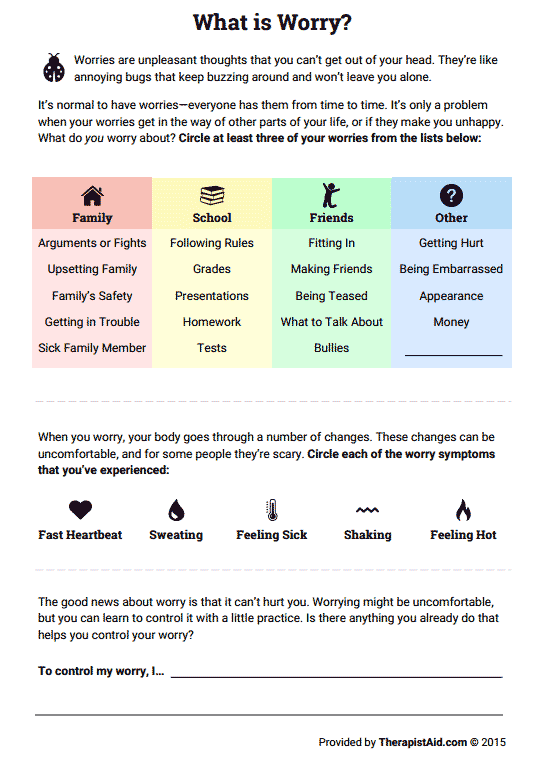 What Is Worry  (worksheet)
