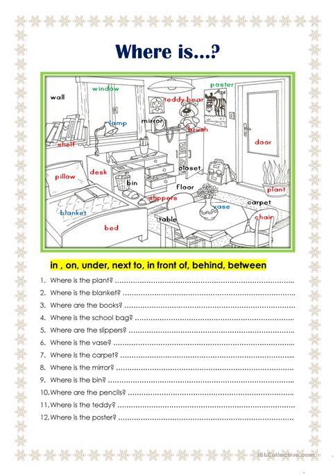 Where Is    Worksheet