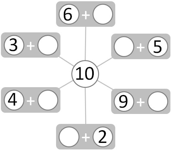 Worksheet  Number Bonds (numbers To 10)