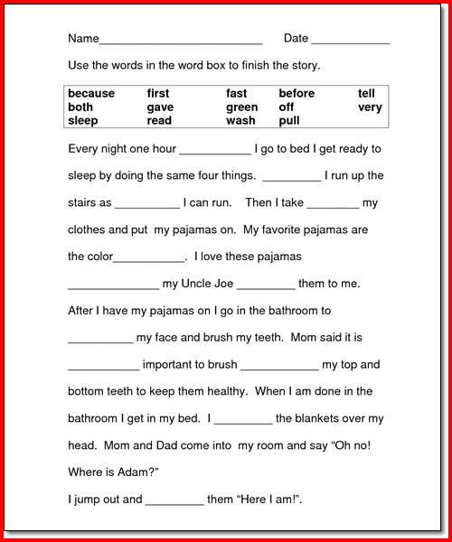 Worksheet For 2nd Grade Reading Worksheets For All