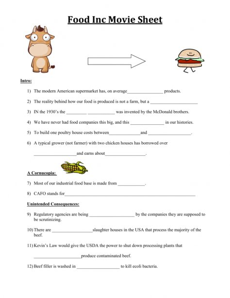 Food inc worksheet answer key free