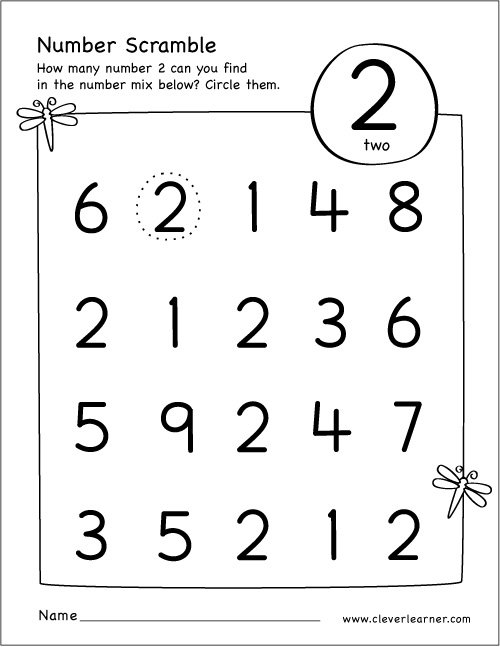 Worksheets For All Download And Share Worksheets Free On Number 2