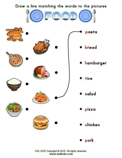 Worksheets For Food Worksheets For All