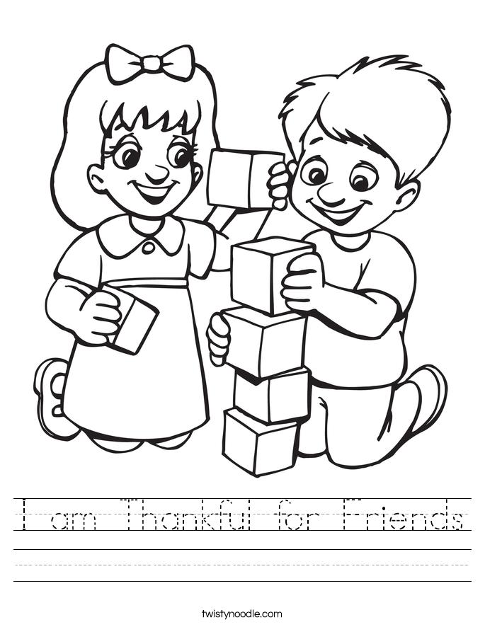 Worksheets For Kindergarten Friends