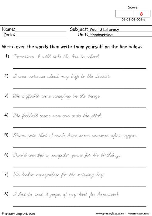 Worksheets To Improve Writing Skills