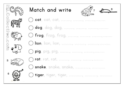 Writing Worksheets For Kindergarten Free Worksheets For All