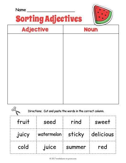 12 Best Adjective Worksheets Images On Free Worksheets Samples