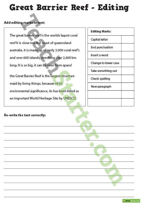 20 Editing Worksheets