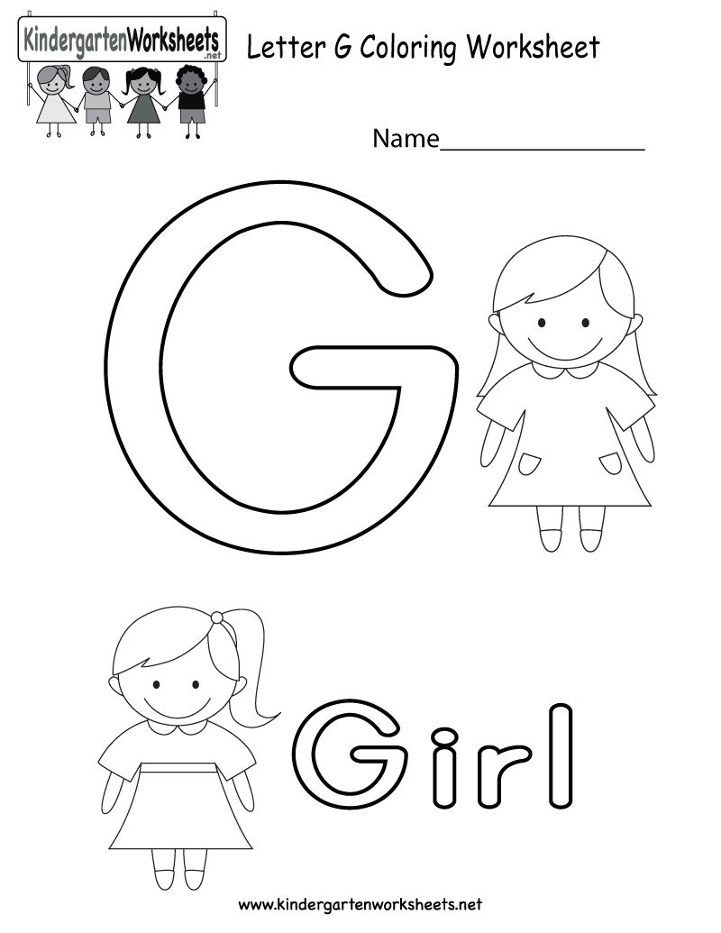 21 G Worksheets For Kindergarten – Auteck Info