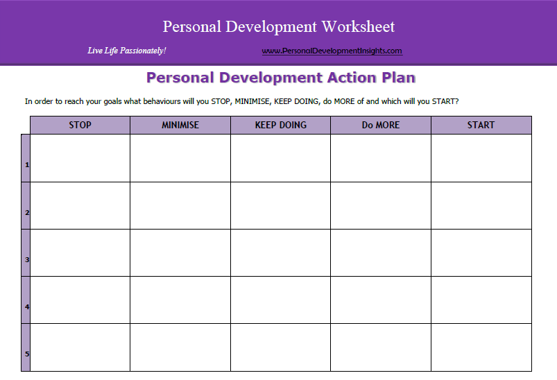29 Images Of Personal Action Plan Template