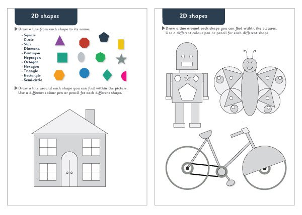 2d Shapes Maths Worksheets