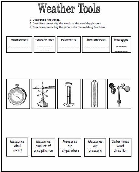 2nd Grade Weather Worksheets Worksheets For All