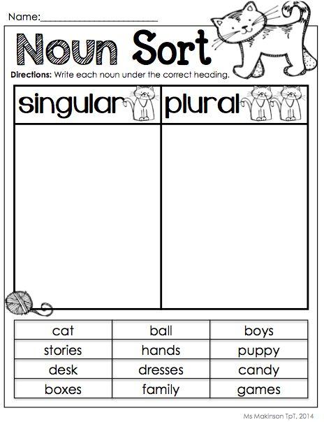 38 Best Noun Worksheets Images On Free Worksheets Samples
