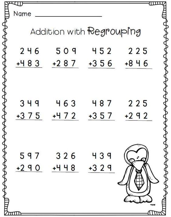 3 Digit Addition Worksheets For Grade 2 Worksheets For All