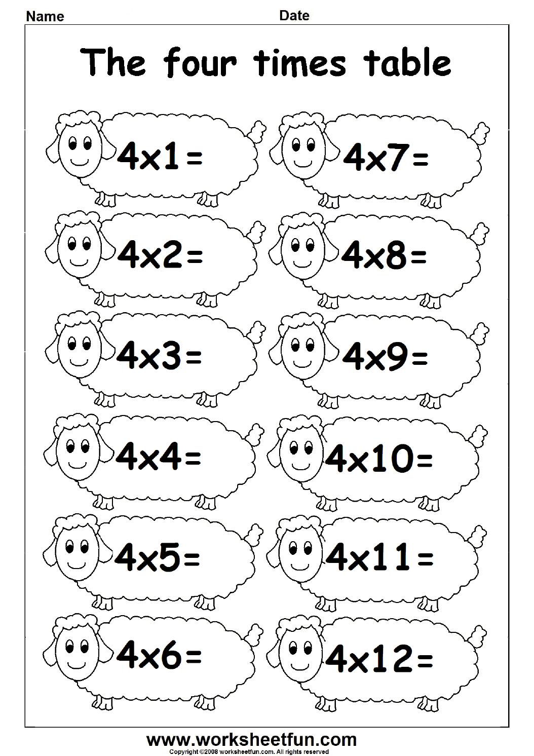 4 Multiplication Worksheets The Best Worksheets Image Collection