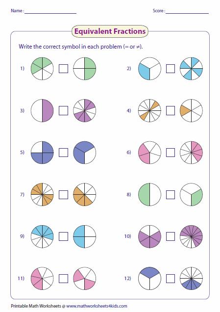 4th Grade Fractions Worksheets Worksheets For All