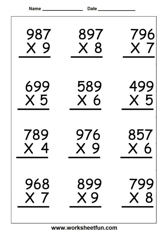 5th Grade Math Worksheets Multiplication Worksheets For All