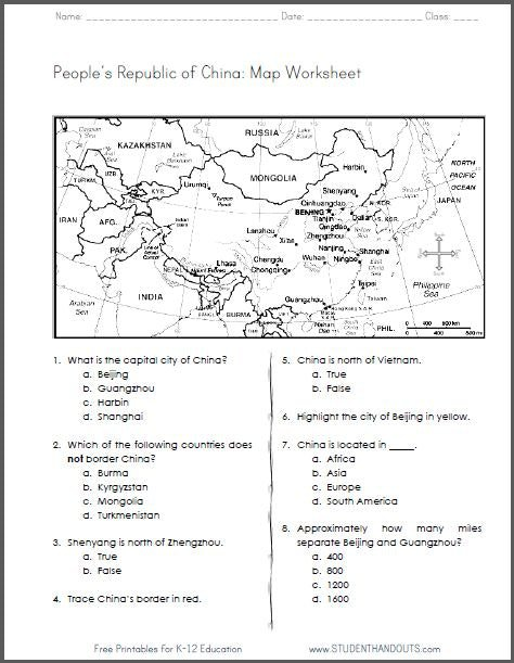 7 Th Grade Social Studies Worksheets Accurate Photograph China