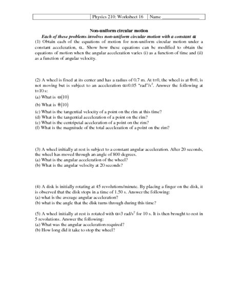 Acceleration And Motion Worksheets Worksheets For All