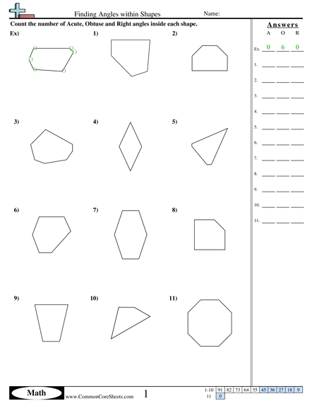 Acute Obtuse And Right Angles Worksheets Worksheets For All