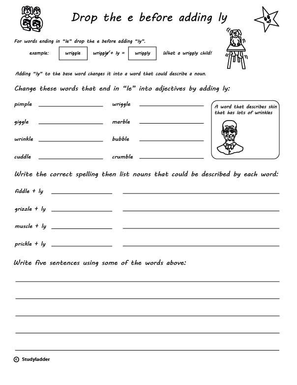 Suffix Ly Worksheets