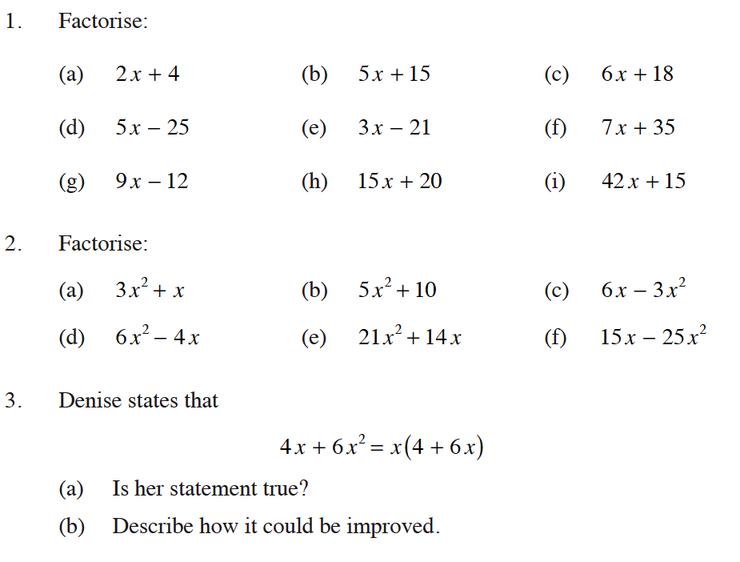 Algebra Factoring Worksheets Worksheets For All