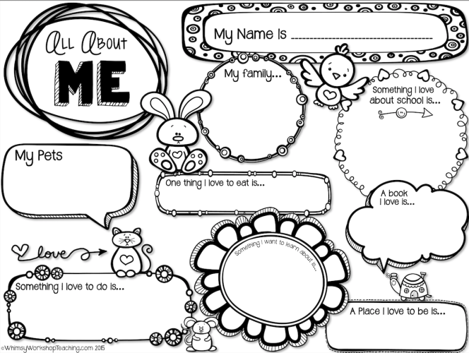 All About Me Free Printable Worksheets Worksheets For All