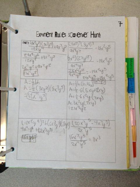 All Things Algebra  I  Heart  Scavenger Hunts!