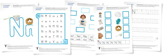 Alphabet Parade  Letter N Worksheets And Activity Suggestions