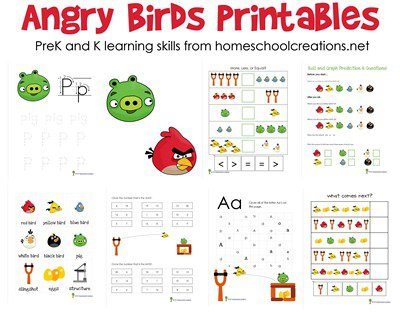 Angry Birds Printables For Preschool And Kindergarten