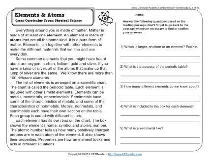 Atom Practice Worksheet Worksheets For All