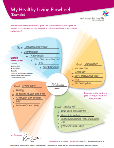 Awesome Collection Of Healthy Living Worksheets For Adults Also