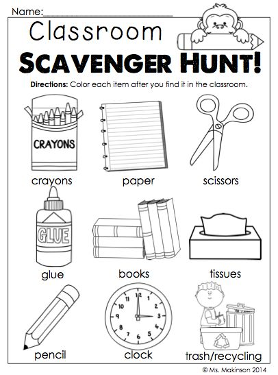 Back To School Worksheets For Kindergarten Worksheets For All