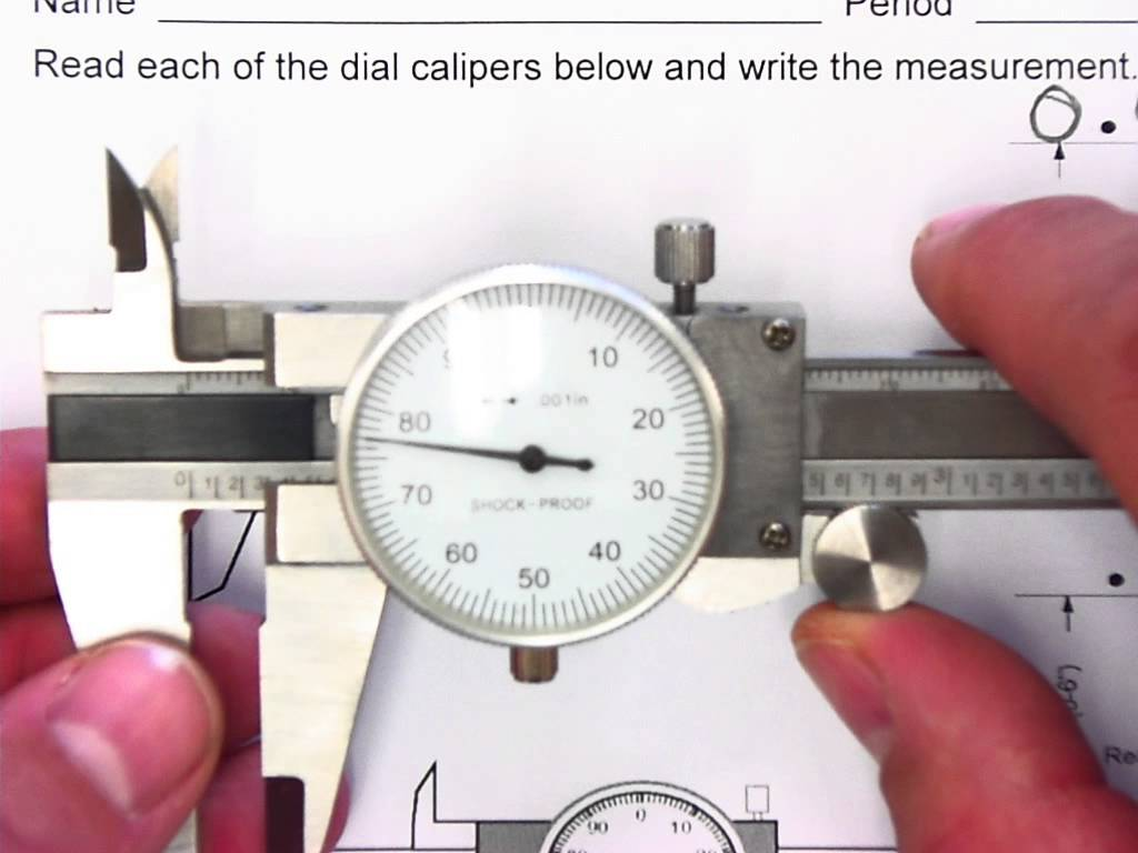 Dial Caliper Reading Worksheets