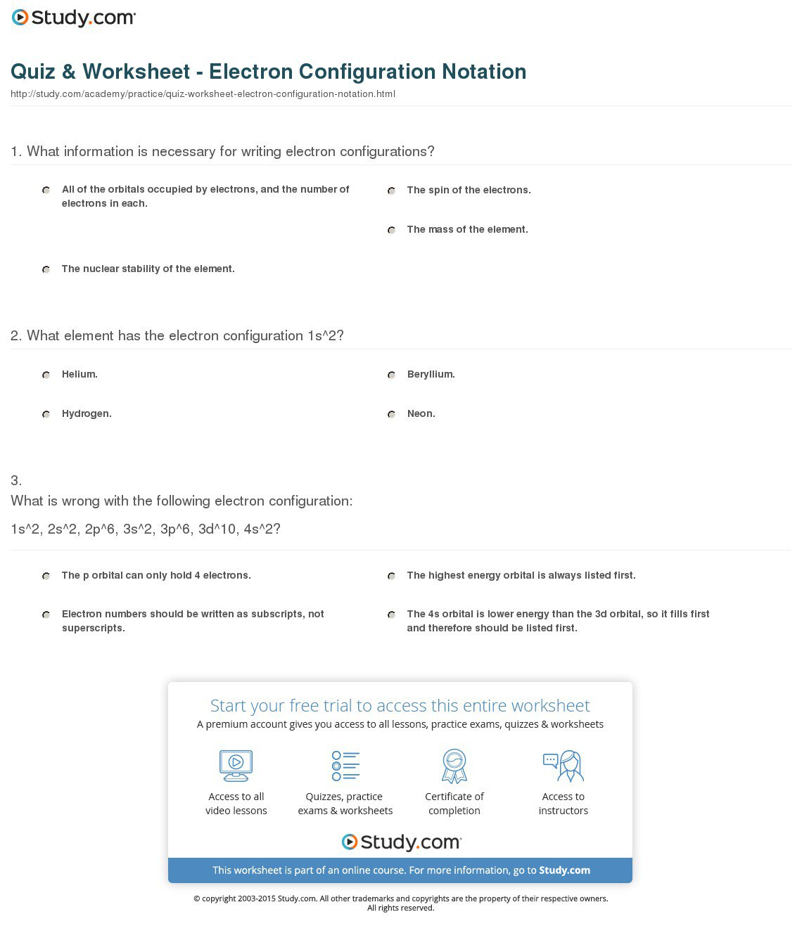 Best Ideas Of Electron Configuration Worksheets Also Cover Letter