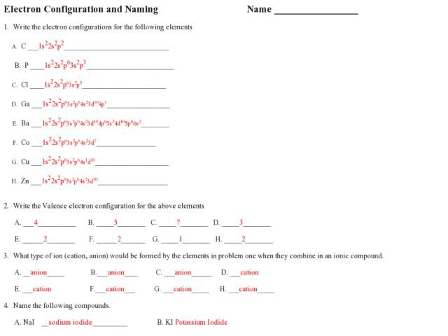 Best Of Electron Configuration Worksheet Answers New Molarity