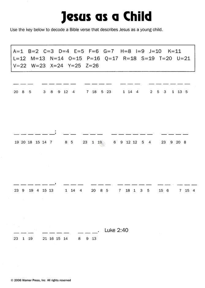 Bible Printables For Kids  6465
