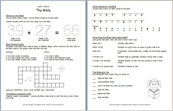 Bible Worksheets For Middle School Worksheets For All