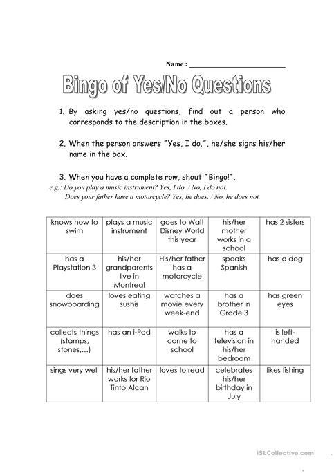 Bingo Of Yes