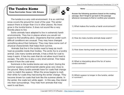 Biomes Activity Worksheet Worksheets For All