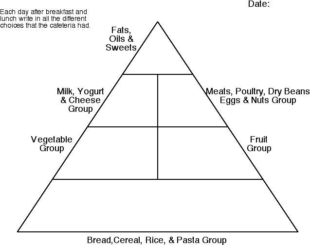 Blank Food Pyramid Worksheet Worksheets For All