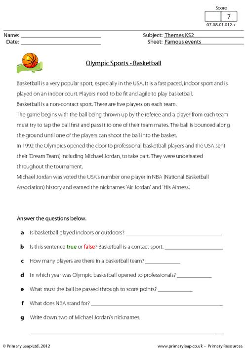 Brilliant Ideas Of Basketball Worksheets For Middle School Also
