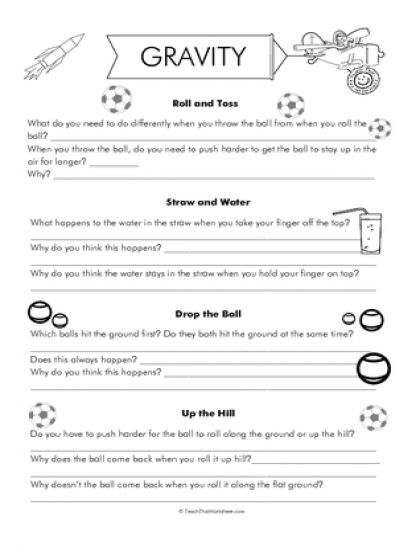 Brilliant Ideas Of Gravity Worksheets 3rd Grade For Your Sheets