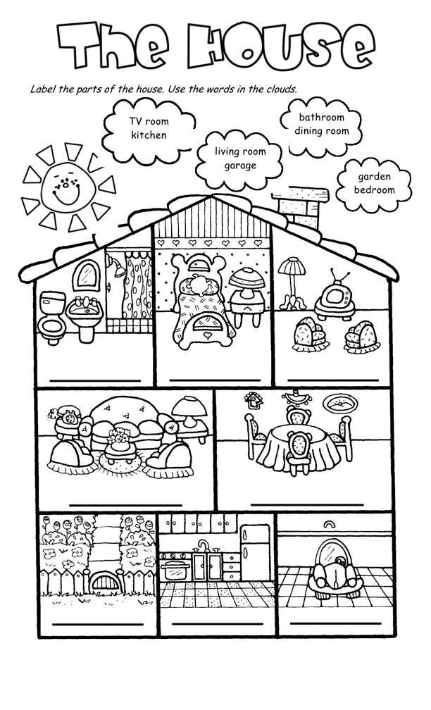 Brilliant Ideas Of House Worksheets For Sheets