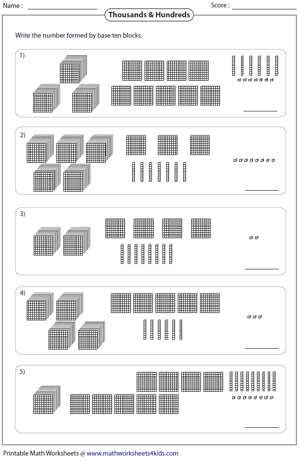 Bunch Ideas Of Base Ten Block Worksheets With Letter Template